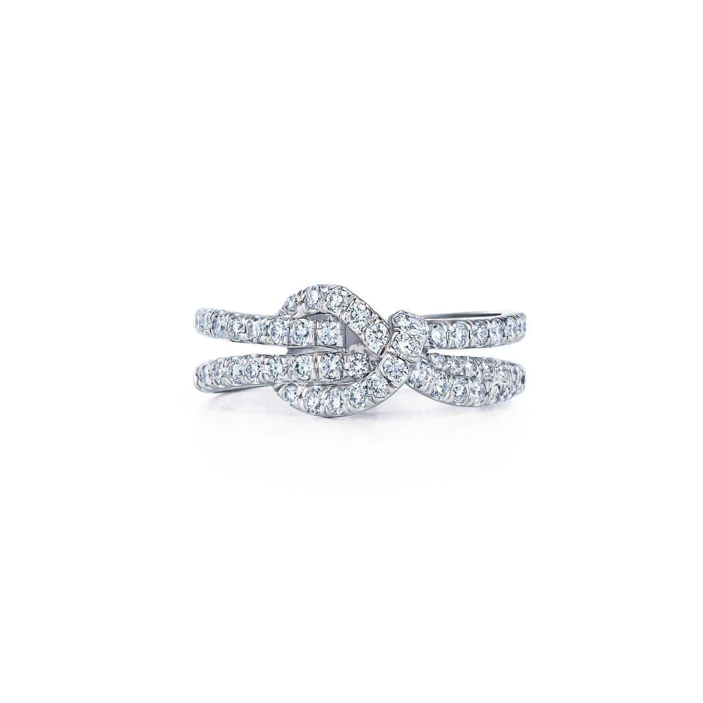 Diamond Knot Ring In 18k White Gold Kwiat