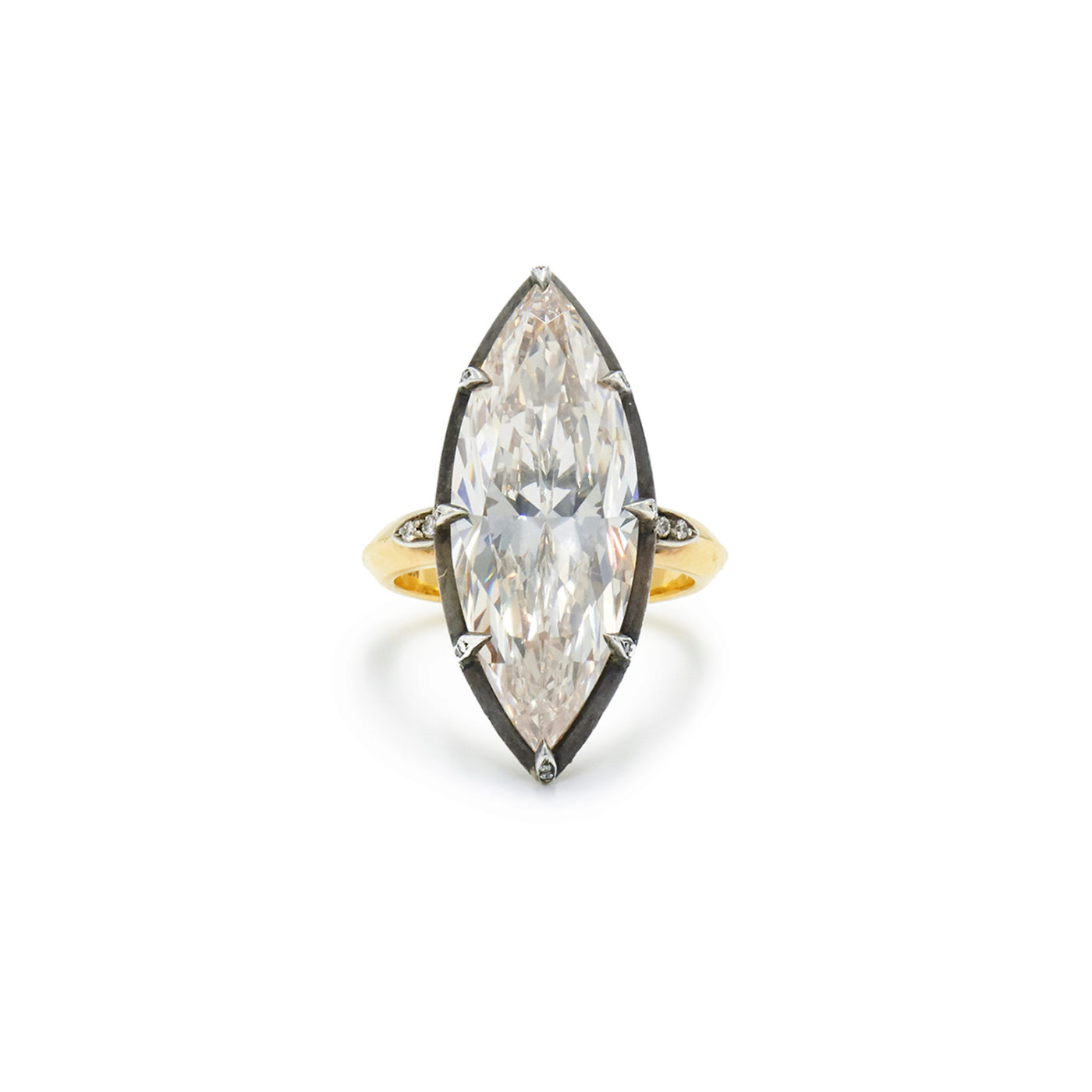 10 05ct Marquise Diamond Collet Ring Signed Fred Leighton Fred Leighton