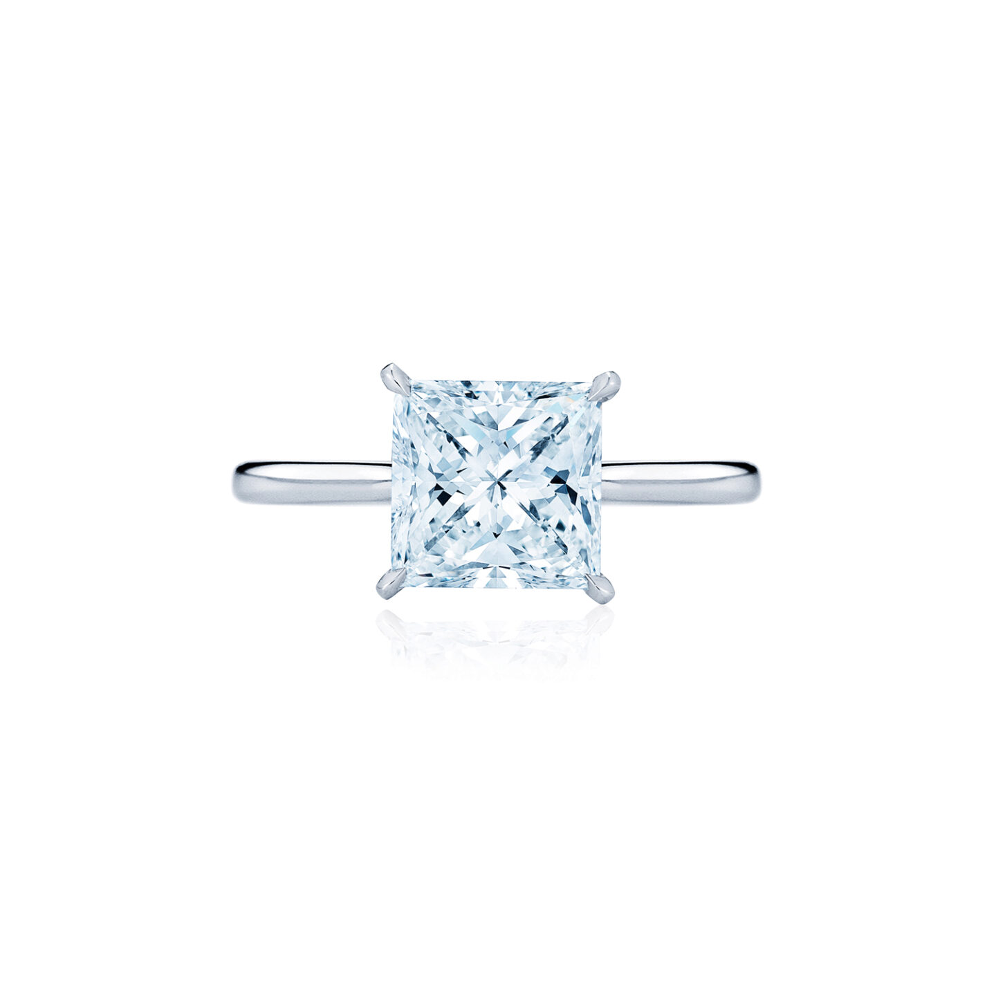 The Kwiat Setting Princess Cut Diamond Engagement Ring In Platinum Kwiat